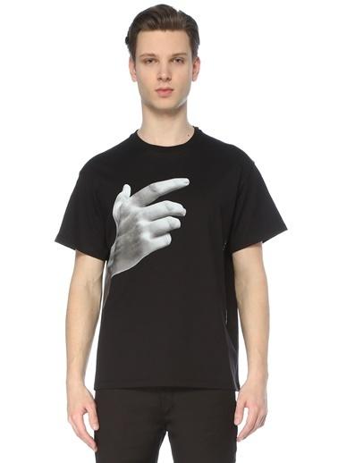 Neil Barrett Neil Barrett  Bisiklet Yaka Baskılı T-shirt 101633721 Siyah